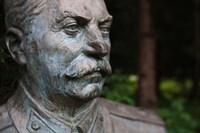 Lithuania, Grutas Park, Statue Joseph Stalin II Fine Art Print