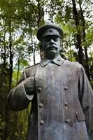 Lithuania, Grutas Park, Statue Joseph Stalin III Fine Art Print