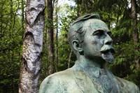 Lithuania, Grutas, Statue of Mickevicius-Kapsukas Fine Art Print
