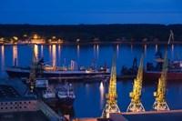 Lithuania, Klaipeda, Commercial port and Lagoon Fine Art Print