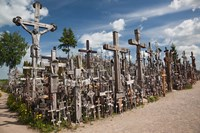 Lithuania, Siauliai, Hill of Crosses, Christianity III Fine Art Print