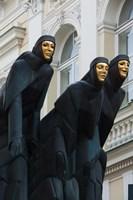 Lithuania, Vilnius, Three Muses statue Fine Art Print