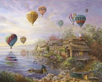 Air Balloons Over Cottageville Fine Art Print