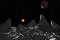 Ice spires on Jupiter's large Moon, Callisto Fine Art Print