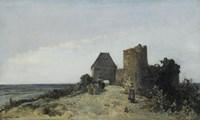 Ruins Of The Chateau De Rosemont, Nievre, 1861 Fine Art Print
