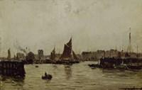 View Of A Port Fine Art Print