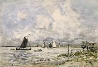 A Pier On The Scheldt, 1866 Fine Art Print