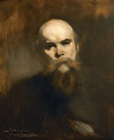 Portrait Of The Poet Paul Verlaine (1844-1896) Fine Art Print