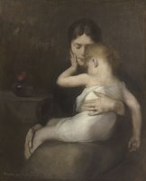 The Sick Child (Madame Eugene Carriere and Son Leon), 1885 Fine Art Print