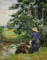 The Anglers, c. 1885 Fine Art Print