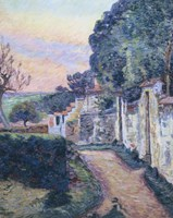A Street In Epinay Fine Art Print