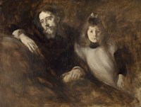 Alphonse Daudet And His Daughter Edmee Fine Art Print