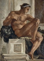 Ignudo, After Michelangelo, 1858-1860 Fine Art Print