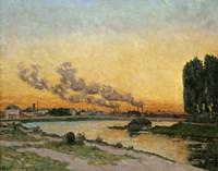 Sunset At Ivry, 1874 Fine Art Print