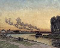 Sunset At Ivry, 1878 Fine Art Print