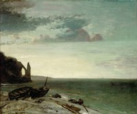 The Sea At Etretat, 1853 Fine Art Print