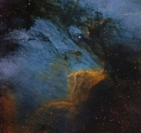 The Pelican Nebula, an H II region in the Constellation Cygnus Fine Art Print