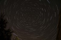 Star Trails around Polaris in the Constellation Ursa Minor Fine Art Print