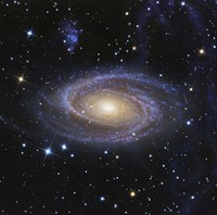 Messier 81, or Bode's Galaxy, is a spiral galaxy located in the Constellation Ursa Major Fine Art Print