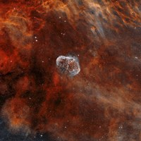 Crescent Nebula with Soap-Bubble Nebula II Fine Art Print