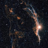 Witch's Broom Nebula (NGC 6960), and part of the Veil Nebula Fine Art Print