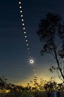 Solar Eclipse composite, Queensland, Australia II Fine Art Print