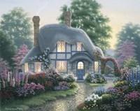 Twilight At Tilden Cottage Framed Print