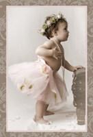 Ballet Sepia Border Framed Print