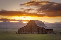 Wet Mountain Barn II Fine Art Print