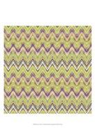 Chevron Waves V Fine Art Print