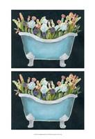 2-Up Bathtub Garden II Framed Print