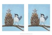 Chickadee Christmas II 2-Up Fine Art Print
