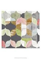 Arabesque Shapes I Framed Print