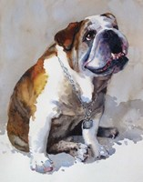 Major Wembly E. Bull Dog Fine Art Print