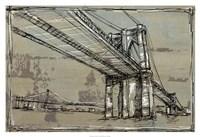 Kinetic City Sketch I Framed Print