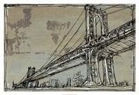 Kinetic City Sketch II Framed Print