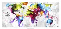 Abstract Map - World Fine Art Print
