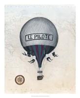 Vintage Hot Air Balloons II Framed Print