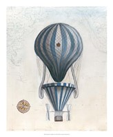 Vintage Hot Air Balloons IV Framed Print