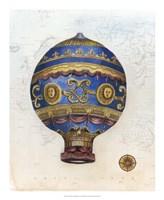 Vintage Hot Air Balloons V Framed Print