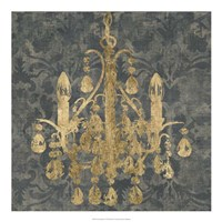 Gilt Chandelier I Fine Art Print