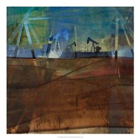 Oil Rig Abstraction II Framed Print