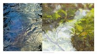 River Mod Panel I Framed Print