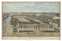 Bird's Eye View of Louvre Fine Art Print
