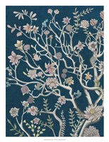 Indigo Night Chinoiserie I Framed Print