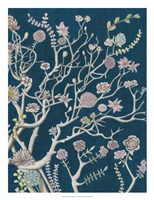 Indigo Night Chinoiserie II Framed Print