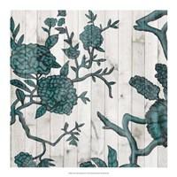 Terra Verde Chinoiserie II Framed Print