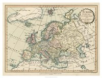 Historic Map of Europe Fine Art Print
