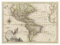 A New Map of America, 1769 Fine Art Print