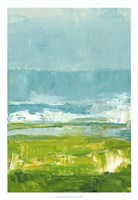 Coastal Overlook I Framed Print